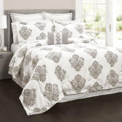 Lush Decor Elizabeth Damask 6pc Comforter Set