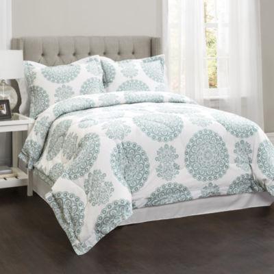 Lush Decor Evelyn Medallion 4pc Comforter Set