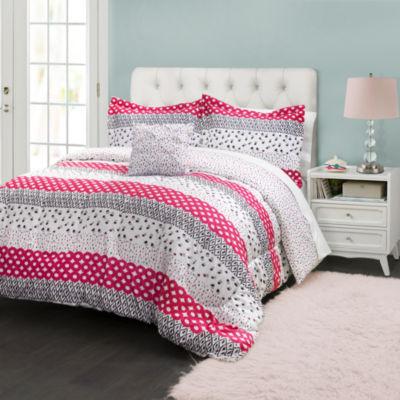 Lush Decor Franny Comforter 3Pc Set