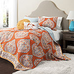 Lush Decor Harley Quilt Tangerine 5pc Set
