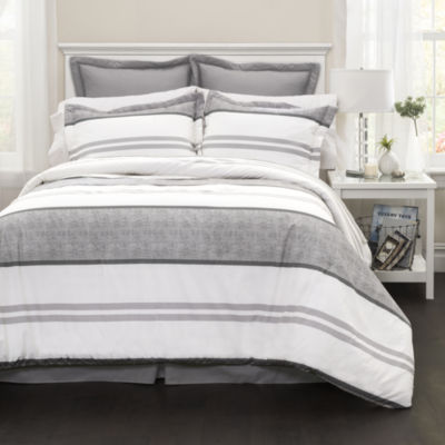 Lush Decor Hena Stripe Comforter 6Pc Set