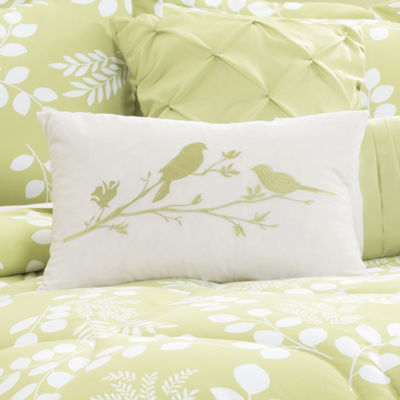 Lush Decor Leafs Comforter Green 8Pc Set