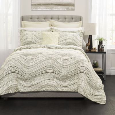 Lush Decor Pixel Wave Line Comforter 6pc Set