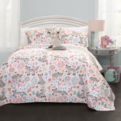 Lush Decor Pixie Fox Quilt Set