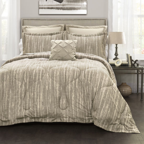 Lush Decor Rustic Stripe Comforter 6Pc Set