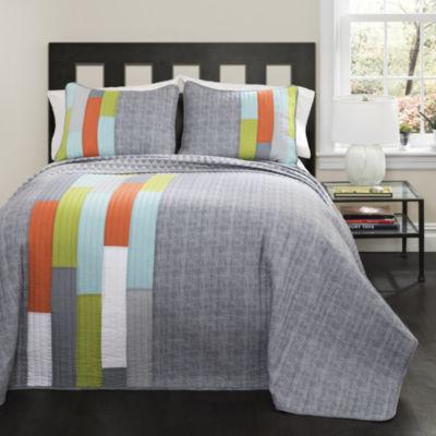 Lush Decor Shelly Stripe Quilt Set