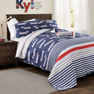 Lush Decor Sausage Dog Quilt Set