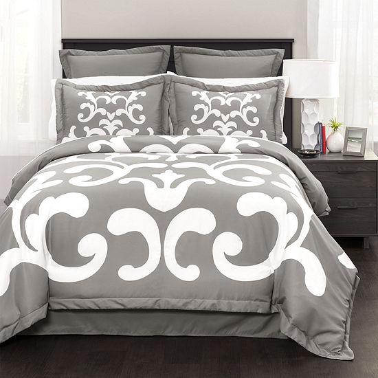Lush Decor Lavish Damask 6pc Comforter Set