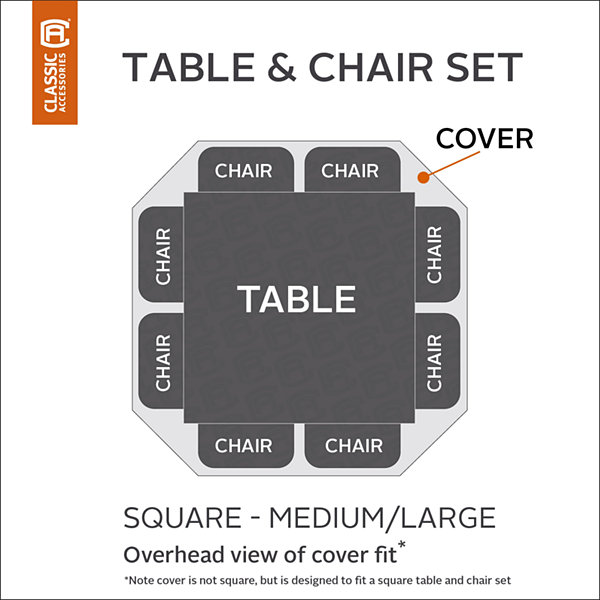Classic Accessories Patio Set Cover