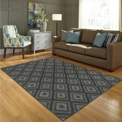 JCPenney Home Diamond Washable Rectangular or Runner Rug