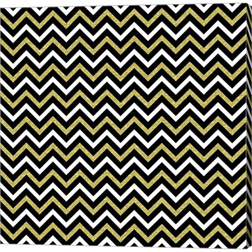 Small Bling Chevron Gallery Wrapped Canvas Wall Art On Deep Stretch Bars