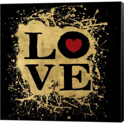 Metaverse Art Heart Of Gold 1V Gallery Wrapped Canvas Wall Art