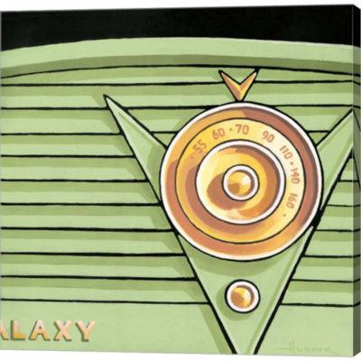 Metaverse Art Galaxy Radio Gallery Wrapped CanvasWall Art