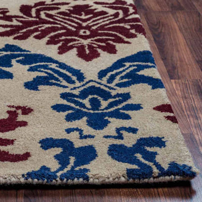 Rizzy Home Bradberry Downs Collection Hand-Tufted Aaliyah Damask Area Rug