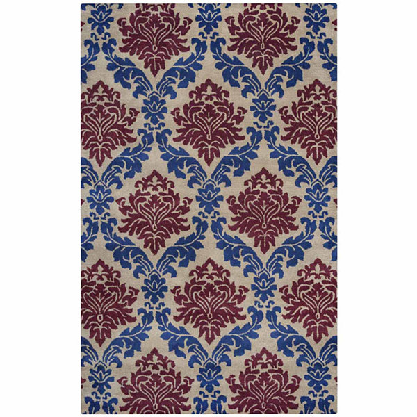 Rizzy Home Bradberry Downs Collection Hand-Tufted Aria Damask Area Rug