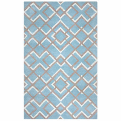 Rizzy Home Bradberry Downs Collection Hand-Tufted Geometric Area Rug
