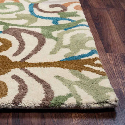 Rizzy Home Bradberry Downs Collection Hand-TuftedBella Scroll Area Rug
