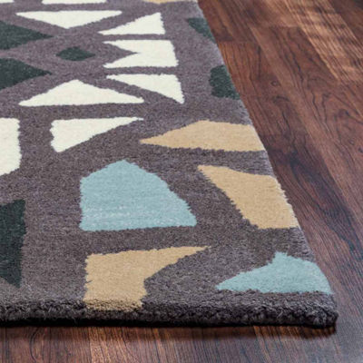 Rizzy Home Bradberry Downs Collection Hand-Tufted Emma Geometric Area Rug