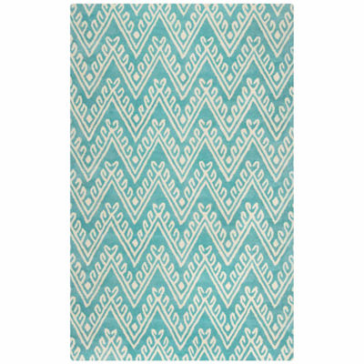 Rizzy Home Bradberry Downs Collection Hand-Tufted Leah Chevron Area Rug