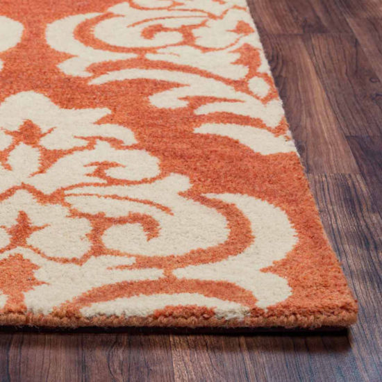 Rizzy Home Bradberry Downs Collection Hand-TuftedSkylar Damask Area Rug