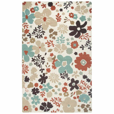 Rizzy Home Country Collection Hand-Tufted Claire Floral Area Rug