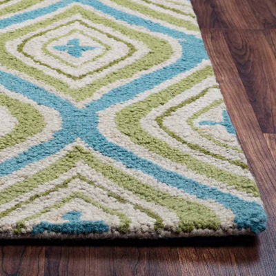 Rizzy Home Country Collection Hand-Tufted Mila Geometric Area Rug