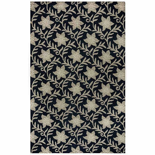 Rizzy Home Country Collection Hand-Tufted Violet Geometric Area Rug