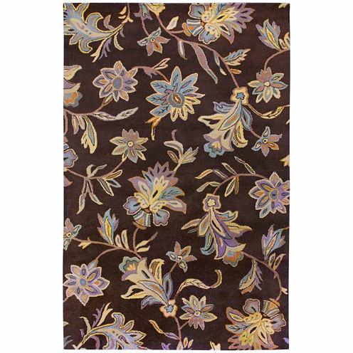 Rizzy Home Floral Collection Hand-Tufted Jamie Floral Area Rug