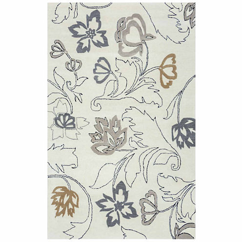 Rizzy Home Fusion Collection Hand-Tufted Hailey Floral Area Rug