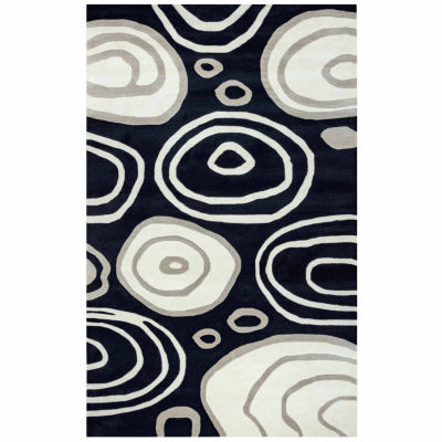 Rizzy Home Fusion Collection Hand-Tufted Kennedy Abstract Area Rug