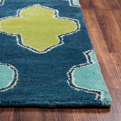 Rizzy Home Fusion Collection Hand-Tufted Lily Geometric Area Rug