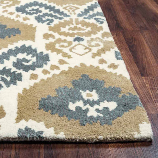 Rizzy Home Gillespie Avenue Collection Hand-Tufted Gabby Damask Area Rug