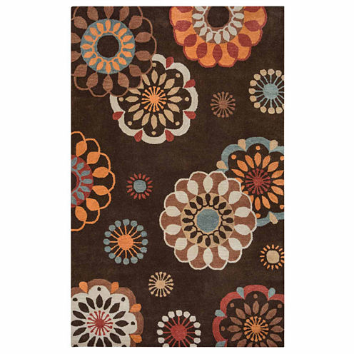 Rizzy Home Pandora Collection Hand-Tufted Rylee Medallion Area Rug