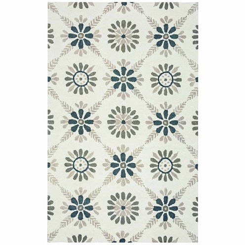 Rizzy Home Rockport Collection Hand-Tufted Addison Floral Area Rug