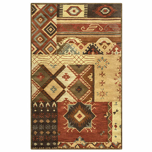 Rizzy Home Southwest Collection Hand-Tufted Valentina Patchwork Area Rug