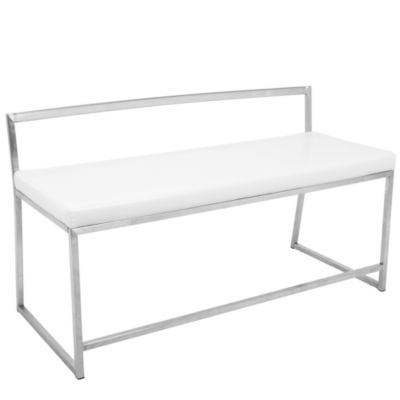 Fuji Faux-Leather Bench