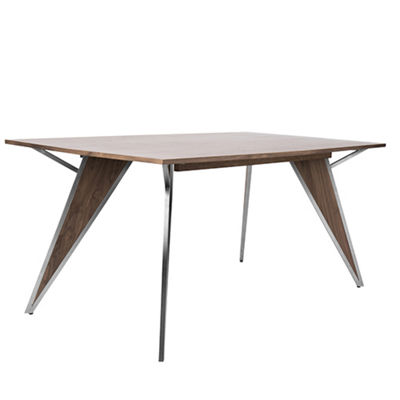 Tetra Modern Industrial Rectangular Dining Table