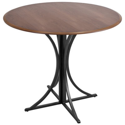 Boro Wood-Top Modern Round Dining Table