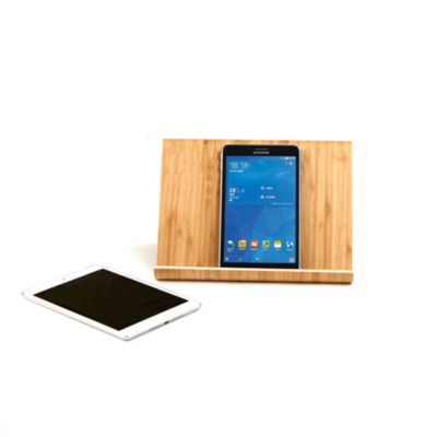 Mind Reader Portable Eco-Friendly Bamboo Tablet Stand Holder