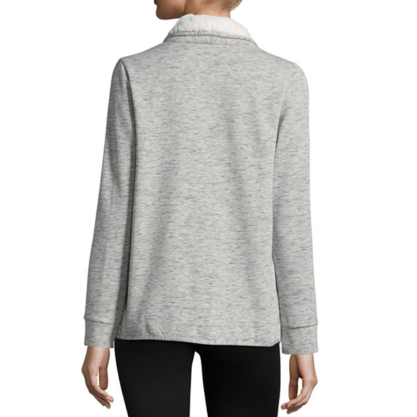St. John's Bay Active Long Sleeve Sherpa Cardigan