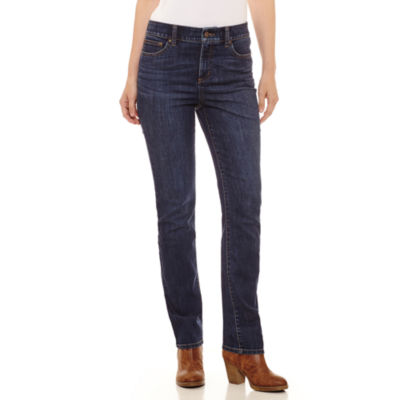 St. John's Bay Secretly Slender Embroidered Straight Jean
