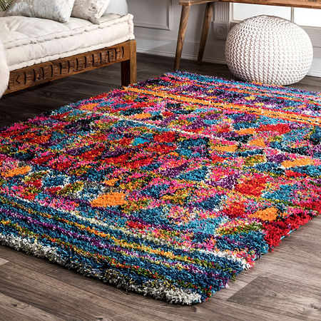 nuLoom Leisha Moroccan Shaggy Area Rug, One Size , Multiple Colors