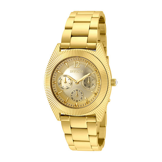 Invicta Angel Womens Gold Tone Stainless Steel Bracelet Watch-25248