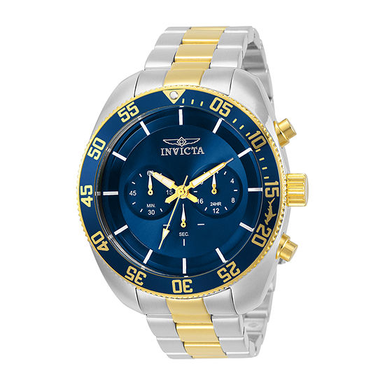 Invicta Pro Diver Mens Chronograph Two Tone Stainless Steel Bracelet Watch-30056