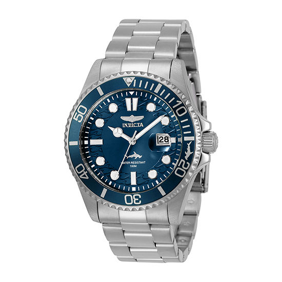 Invicta Pro Diver Mens Silver Tone Stainless Steel Bracelet Watch-30019