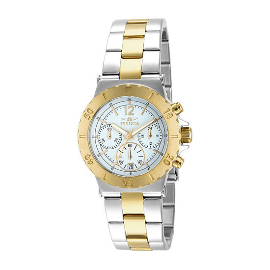 Invicta Specialty Womens Chronograph Two Tone Stainless Steel Bracelet Watch-14855