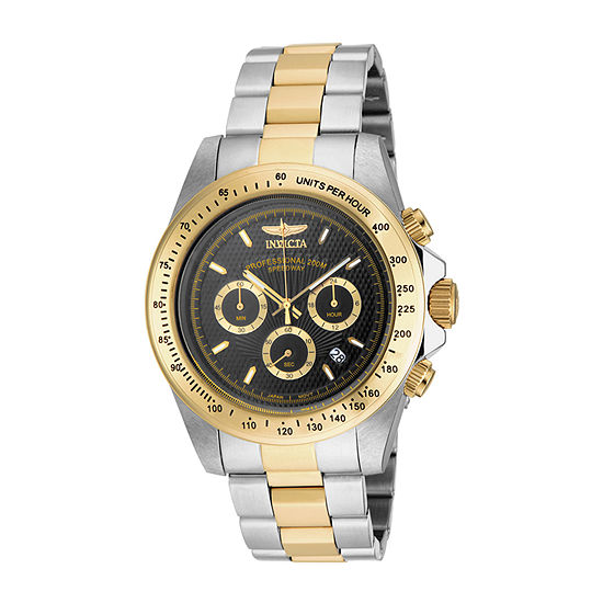 Invicta Speedway Mens Chronograph Two Tone Stainless Steel Bracelet Watch-18393