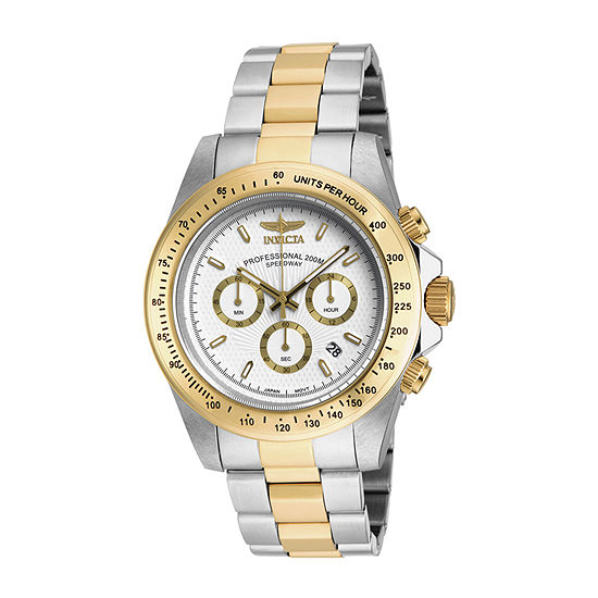Invicta Speedway Mens Chronograph Two Tone Stainless Steel Bracelet Watch-18392