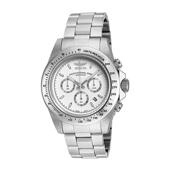 Invicta Speedway Mens Chronograph Silver Tone Stainless Steel Bracelet Watch-18389