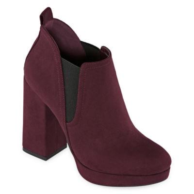 Worthington Womens Nessa Booties Block Heel